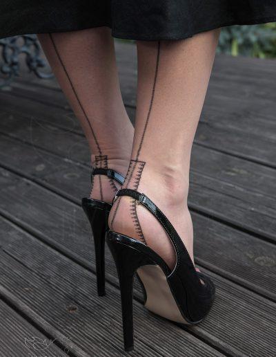 Mrs NyloNova wearing vintage Veitel stockings and Pleaser shoes